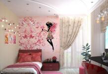 Dekorowanie pokoju z modnymi tapetami dla dziewczynek